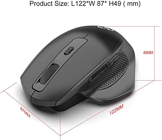 HXSJ T28 Vertical 2.4Ghz Wireless Rechargeable Mute Mouse 2400DPI Silent Mice