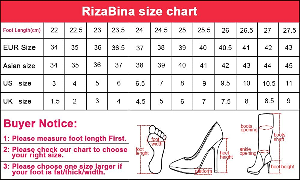RizaBina Women Ankle Strap Sandals Shoes 11 27.5 US = 27.5 11 CM|Black B07CVVXCPR 17c1c7