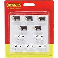 Hornby OO Gauge Dairy and Beef Cattle Cows 1:76 Scale Miniature Figures for Model Train Layouts R7121