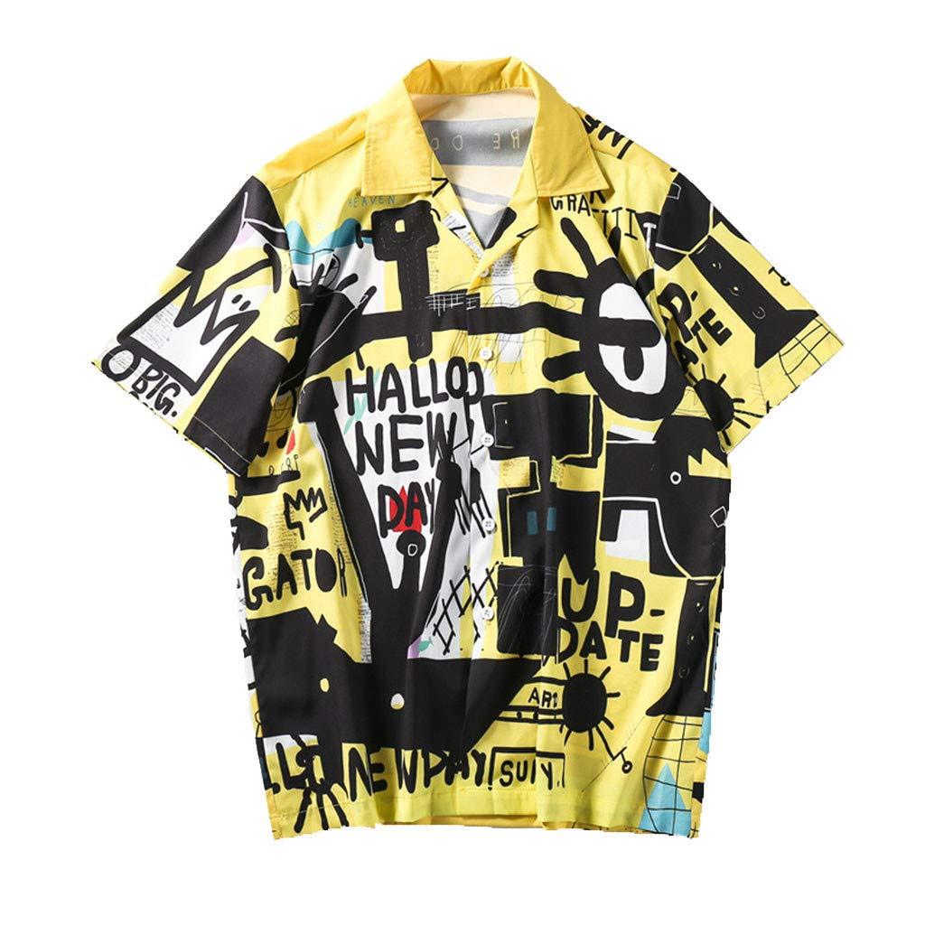 Mens Summer Tops,Imakcc 2019 Fashion T-Shirt Short Sleeve Cool Hip Hop Loose Blouse