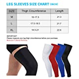 HuiYee Leg Sleeves Compression Full Leg Knee Calf