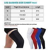 HuiYee Sports Compression UV Long Leg Sleeves for