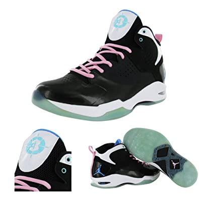 size 40 9dd1f df560 Nike Jordan Fly Wade Mens Basketball Shoes South Beach 429486-030  Black Unvrsty Bl-CP-Prfct Pnk 11 D(M) US  Amazon.in  Shoes   Handbags