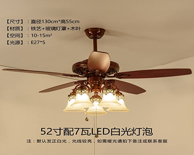 Salón lámpara, ventilador de América, lámparas colgantes ...