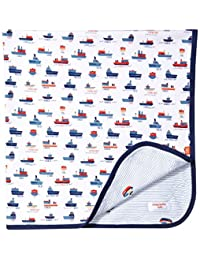 Magnificent Baby Boys' Reversible 2 Pattern Blanket