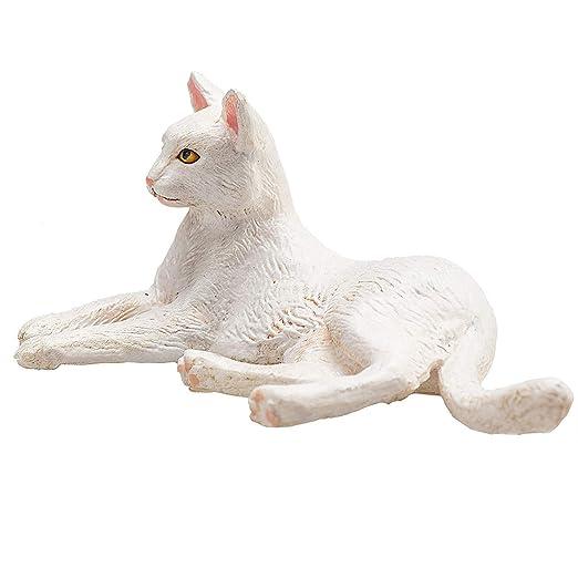 SOHOH Modelo de Postura de Alta simulación de Gato Blanco acostado ...