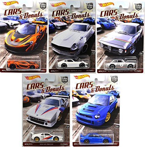 MATTEL HOTWHEELS 1: 64SCALE CULTURE CARS & DONUTS - SET Hot Wheels one sixty-four car culture five set - Mattel Inc. Hot Wheels one sixty-four scale