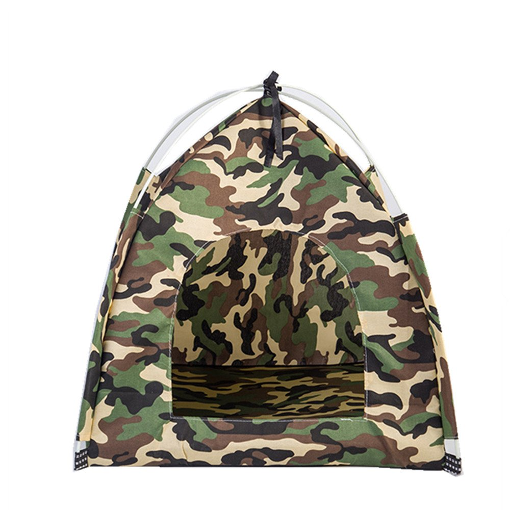 Zi Xin Outdoor Travel Safety Breathable Kennel Removable Portable Tent Mini Tent for Small Pets Camouflage Color