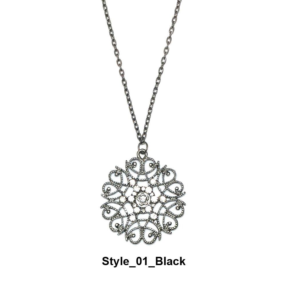European Bohemian Style Pop hollow flower long necklace sweater chain necklaces pendants Kumee B0778CZBYW_US