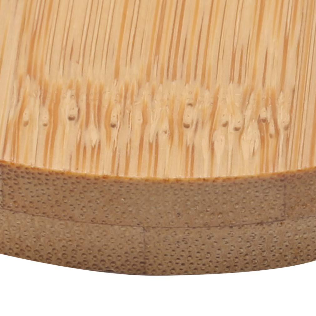 decoraci/ón del hogar Wooden Color decoraci/ón de jard/ín Madera kemai Platos Redondos de Madera para Cuencos bandejas Manualidades Talla L macetas suculentas de la Marca