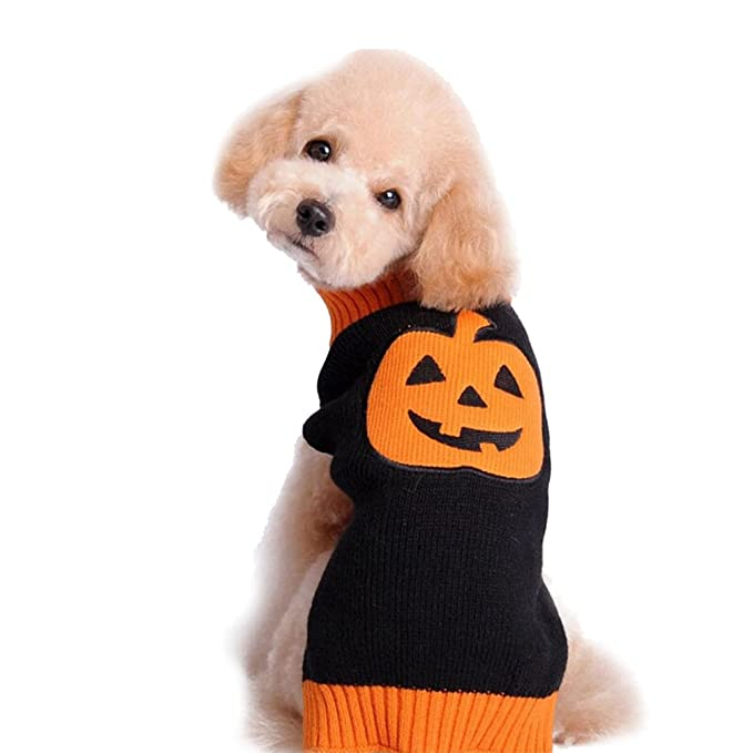 YiJee Halloween Mascota Suéteres De Punto Perro Ropa Calabaza Patrón ...