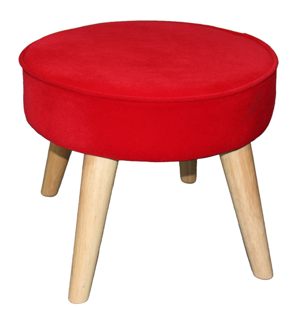 ORE International HB4652 13.5'' Bright Red Mid-Century Foot Stool by ORE