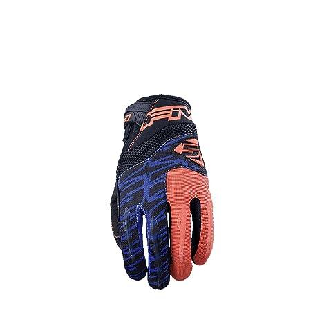 Orange//Blue//Large Five MXF2 Adult Off-road Motorcycle Gloves