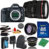 Great Value Bundle for 5D MARK III DSLR – 24-105MM L + 32GB Memory + Wide Angle + Telephoto Lens + Backpack