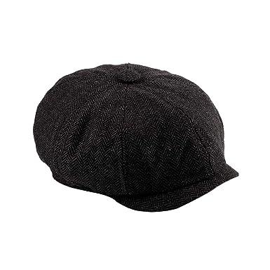 db75cf668a89 Men Retro Octagonal Cap Winter Beret Newsboy Hat Baker Boy Flat Caps  55-60Cm Stretchable