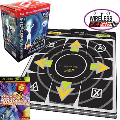 DDR Energy Wireless Dance Pad (PS/PS2 & Xbox) and DDR Game Ultramix 2 (Xbox)