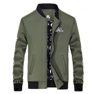 Summer Autumn Bomber Jacket Men Baseball Stand Collar Slim Fit jaqueta masculina Jacket Coat M-