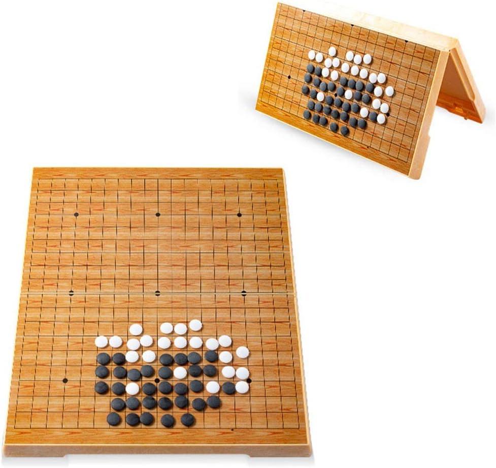 Colección de juegos Juego de juego Go Juego de juego magnético Juego de juego Go Magnético Conveniente de piedras convexas individuales Diseño de tabla plegable portátil para niños y adu: Amazon.es: Hogar