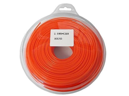 2 mm x 126 M redondo Cable de línea cortacésped desbrozadora ...