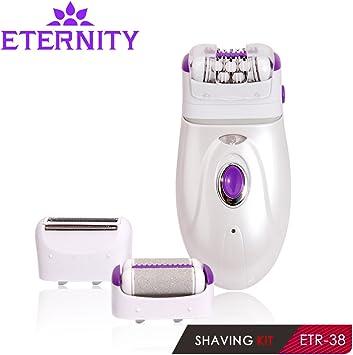 3 en 1 cabeza hembra impermeable eléctrica Depiladora afeitadora ...
