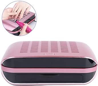 Aspirador de polvo de uñas con colector, ventilador de 65 W y guante transparente para manicura: Amazon.es: Hogar