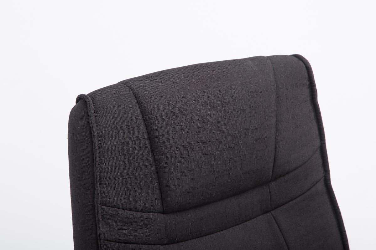CLP Sedia Cantilever XXL Attila in Tessuto Sedia Design Elegante Alto Schienale Crema Sedia Conferenza Portata 180 kg Sedia Studio Oscillante Imbottita e con Braccioli