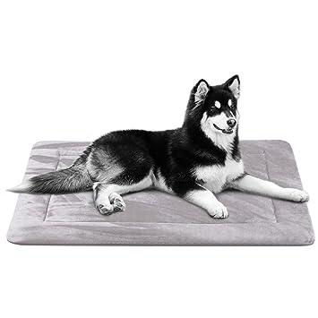 Colchoneta Grande Suave para Perros - 100% Lavable A Máquina, Colchón De Lujo Antideslizante De Gris