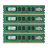Kingston Technology 32GB Kit of 4 (4 x 8GB) DDR3 1600MHz PC3-12800 ECC Memory for Select Dell Desktops KTD-PE316EK4/32G