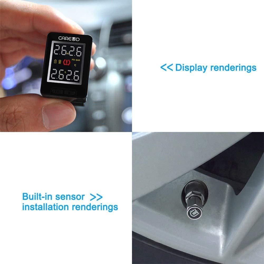 Amazon.com: Build in : Careud u912 TPMS auto para Honda inalámbrico de presión de neumáticos de coche Monitores sistema ING pantalla LCD Embedded Monitores ...