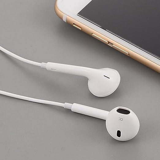 Alokie Auricular de Bluetooth,Auriculares estéreo inalámbricos Bluetooth In Ear Bass Deportes Correr Gym Neckband Auriculares con micrófono (Blanco): ...
