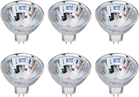 Mr16 Halogen Gu5 3 Bi Pin Base Spotlight Bulb 50w 825 Lumens 12v 2700k Soft White Dimmable 6 Pack Amazon Com