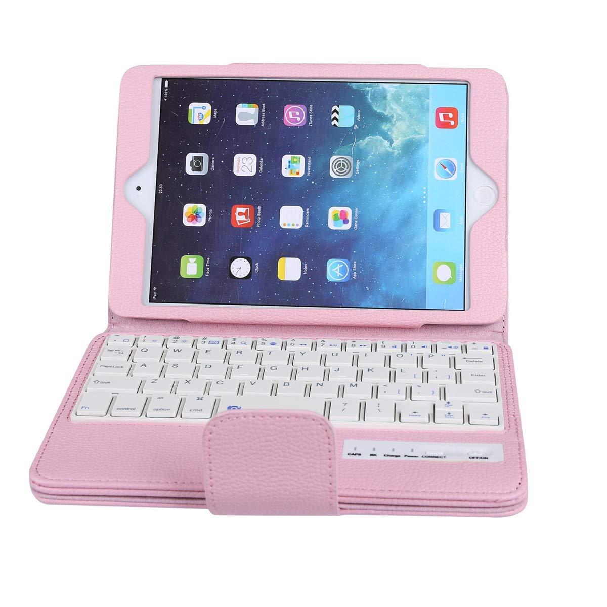 iPad Mini 1 2 3 4 キーボード ピンク F7JS-0Q-411  ピンク B07LF85S5D