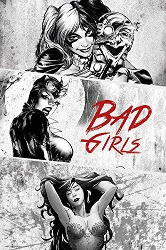 Batman - DC Comcis Poster / Print (Bad Girls B&W - Harley Quinn, Poison Ivy & Catwoman) (Size: 24