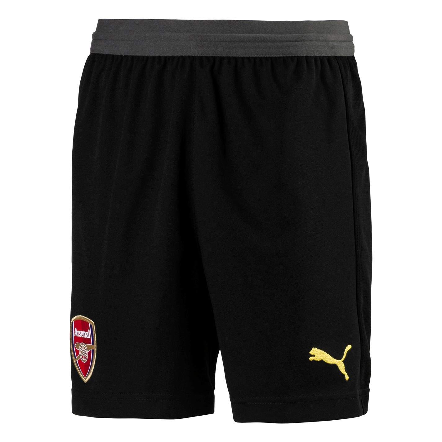 Puma 2018-2019 Arsenal Home SS Goalkeeper Football Soccer T-Shirt Trikot (schwarz) - Kids