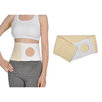 "Ostomy Hernia Belt Stoma Support Wraps for Colostomy Bag Abdominal Binder  with 3 14""Stoma Opening"
