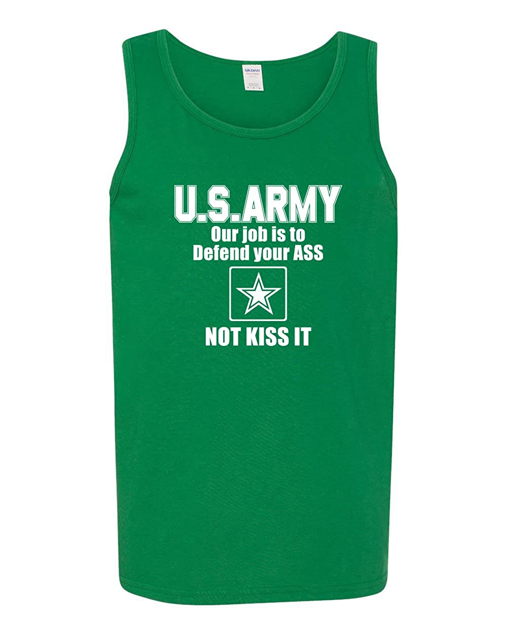 Mens Humor Fashion Graphic Tank Top Protect Your Ass Not Kiss It US Army