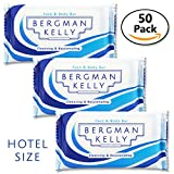 BERGMAN KELLY Travel Soap Bars (Hotel Size 1 Oz, 50 Pack) Mini Soap Bars in Bulk Hotel Guest Soap Individually Wrapped Soaps Travel Size Toiletries