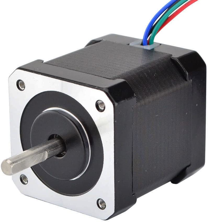 STEPPERONLINE Nema 17 Stepper Motor Bipolar 2A 59Ncm(84oz.in) 48mm Body 4-lead W/ 1m Cable and Connector compatible with 3D Printer/CNC - -