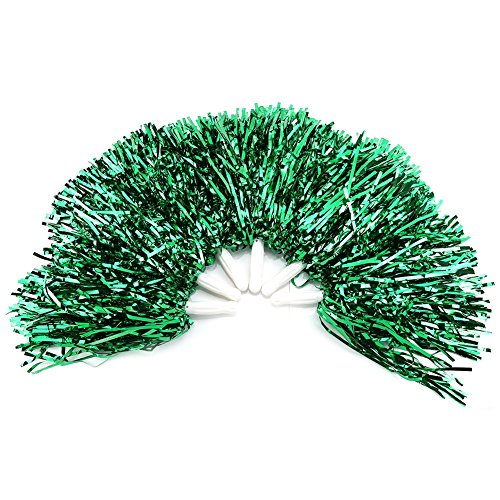VGEBY 6Pcs Cheerleading Pom Poms Cheerleader Sports Party Dance Accessory Hand Flowers Pompoms Cheers -11 Colors to Choose ()