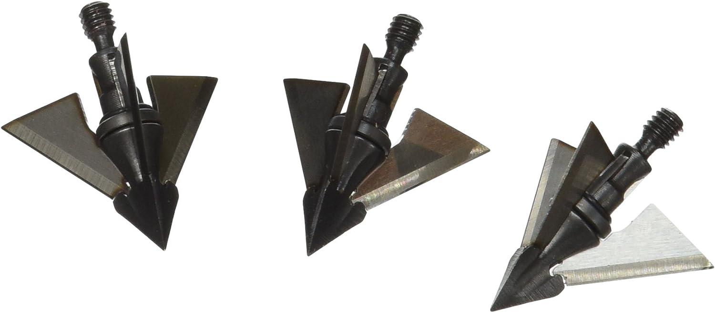 "QAD Exodus Bow Hunting 100 grain 1¼/"" 3-Pack Broadheads Full Blades MADE IN USA"