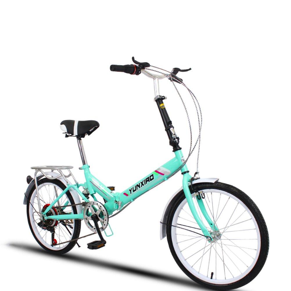 学生折りたたみ自転車, 折りたたみ自転車 女性のサイクリング 超軽量 ポータブル ミニ 男性 折り畳み自転車 B07DFDVXKR 20inch|緑B 緑B 20inch