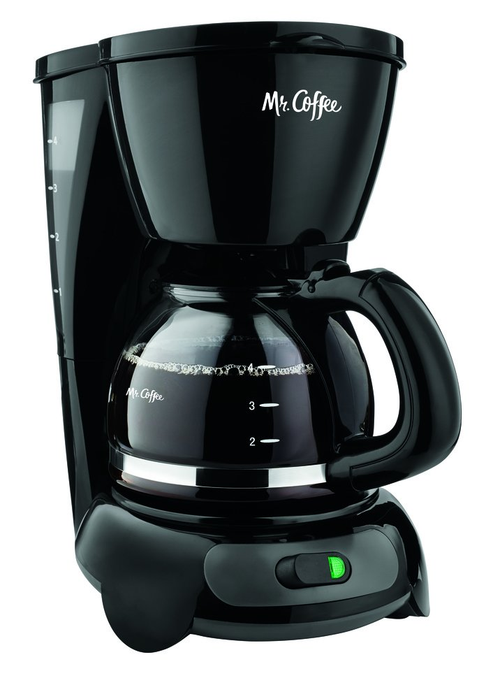 Mr. Coffee 4-Cup Switch Coffee Maker with Gold Tone Filter, Black by Mr. Coffee