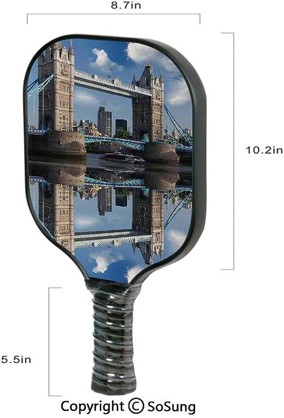 Amazon.com: London Pickleball Paddle,Tower Bridge with City ...