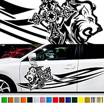Lion car sticker car vinyl side graphics 140 car vinylgraphic custom stickers decals