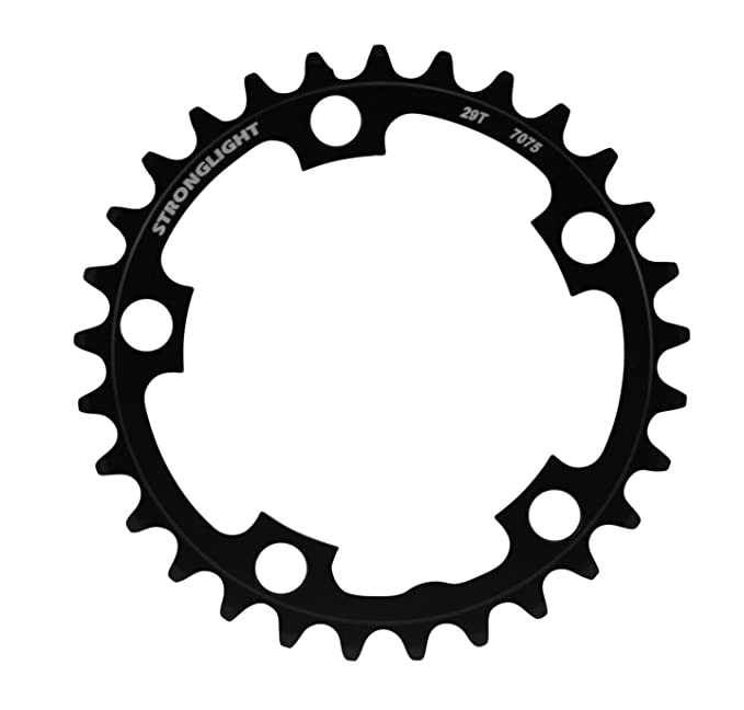 STRONGLIGHT Kettenblatt schwarz 46 Zähne 94 mm Lochkreis 5-Arm Alu7075 9-fach