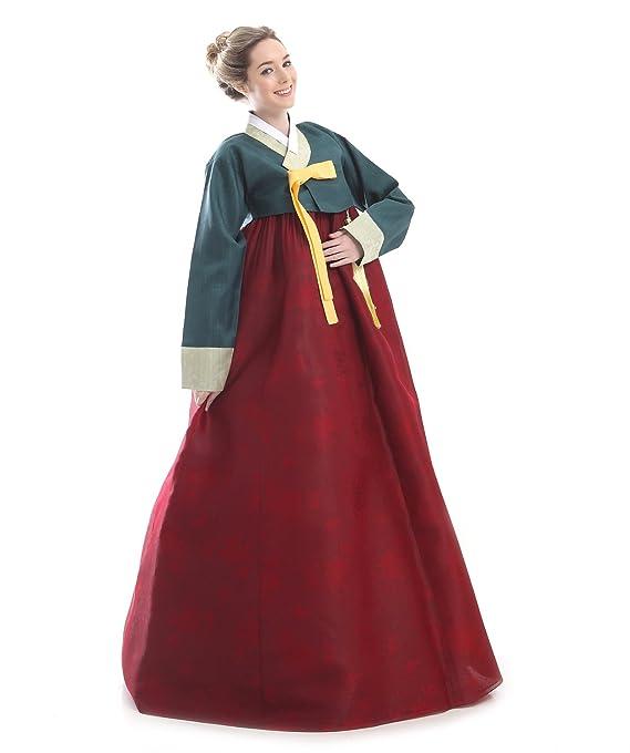 Handgemachter 100% Seide Kleid Hanbok Korea Lang Tracht Schwarz ...