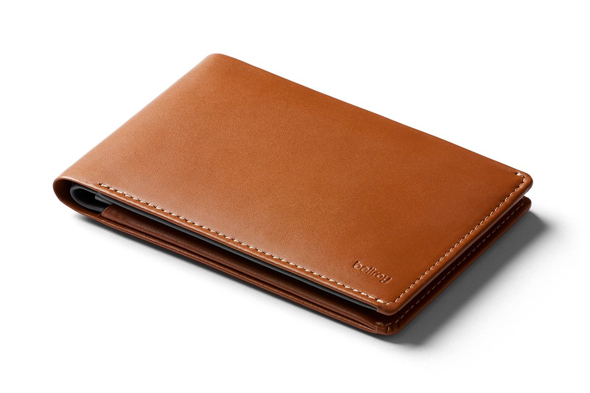 Bellroy Leather Travel Wallet Cararmel - RFID