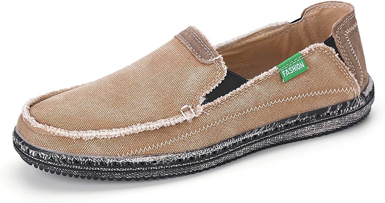VILOCY Men's Slip on Deck Shoes Canvas