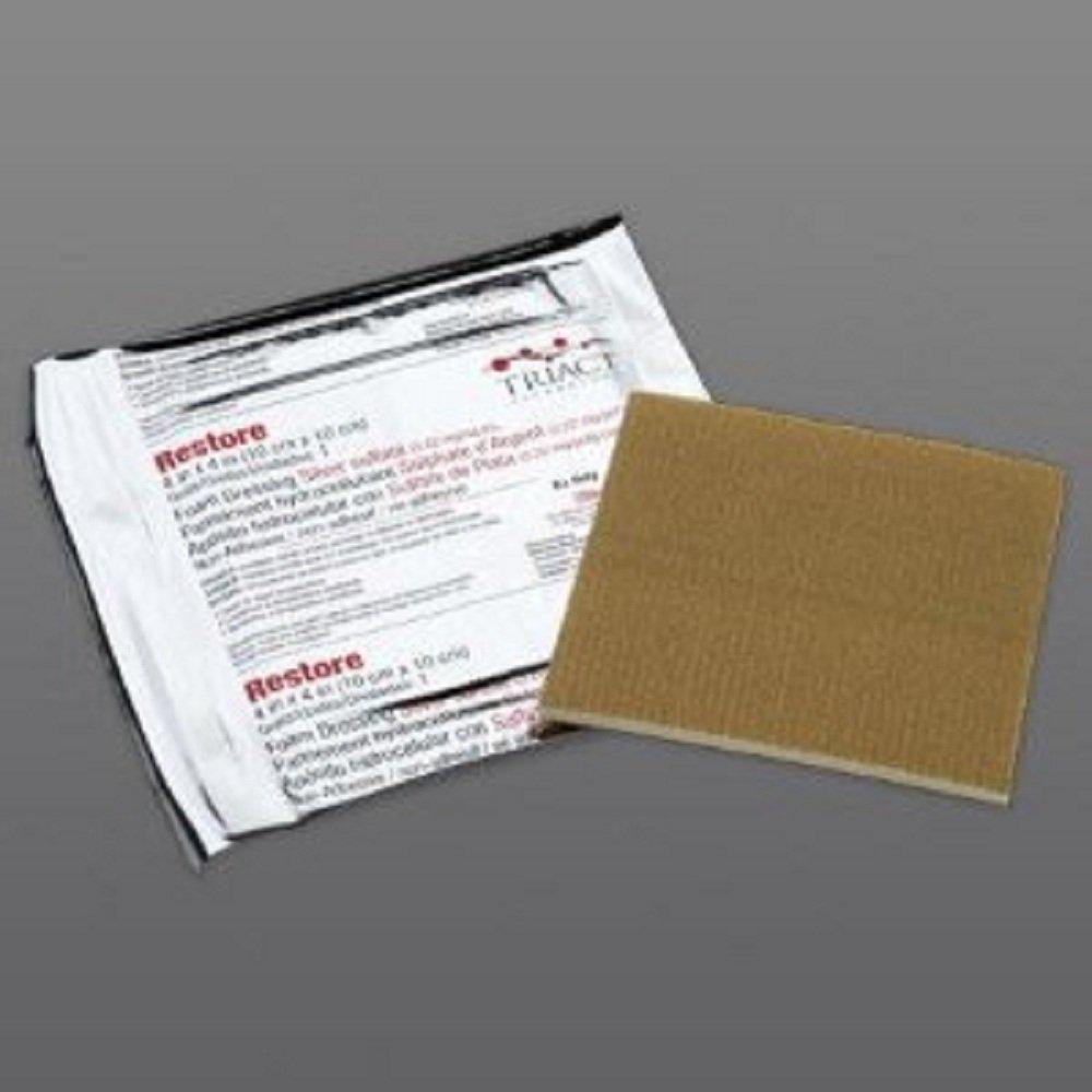 Restore - Foam Dressing with Silver Restore - 4 X 4 Inch Square Sterile - 10/Box - McK