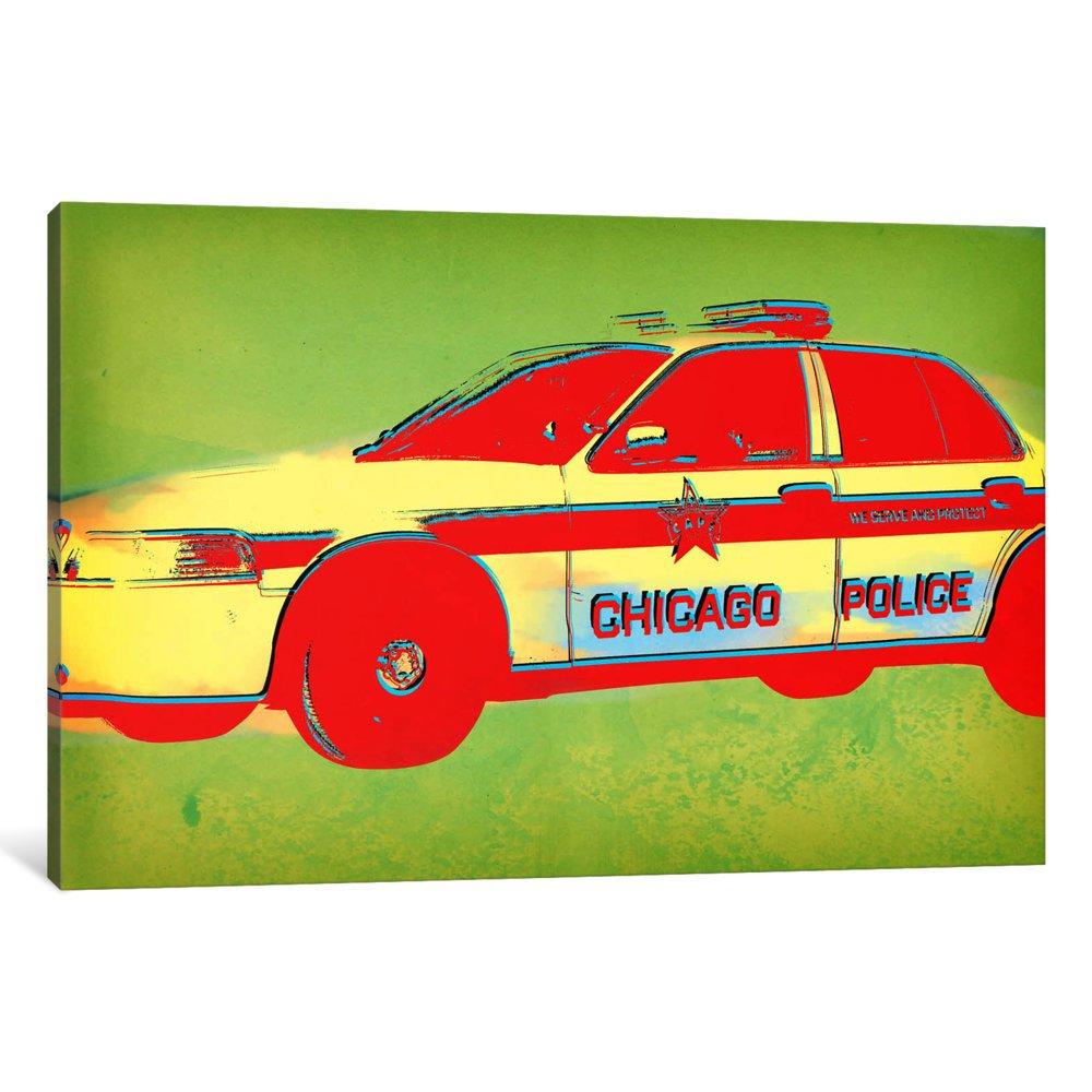 iCanvasART 3 Piece Distressed Police Canvas Print by Santiago Serna 60 x 40//0.75 Deep